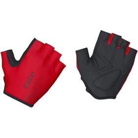 GripGrab Ride Lightweight Gevoerde Halve Vinger Handschoenen, rood/zwart